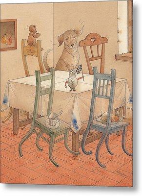 Chair Race Metal Print by Kestutis Kasparavicius