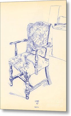 Chair Metal Print by Ron Bissett