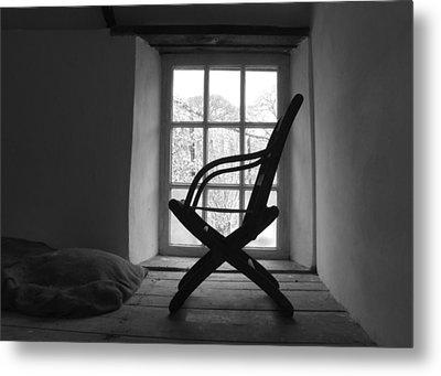 Chair Silhouette Metal Print by Helen Northcott