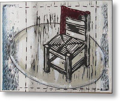 Chair Vii Metal Print by Peter Allan