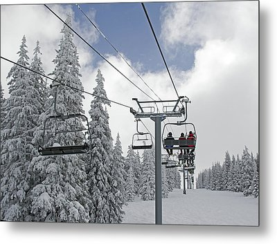 Chairlift At Vail Resort - Colorado Metal Print by Brendan Reals