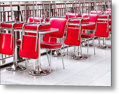 Chairs And Tables Metal Print by Tom Gowanlock