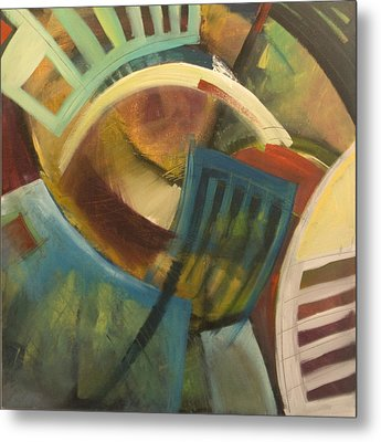 Chairs Around The Table Metal Print by Tim Nyberg