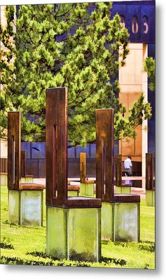 Chairs At The Gate Metal Print