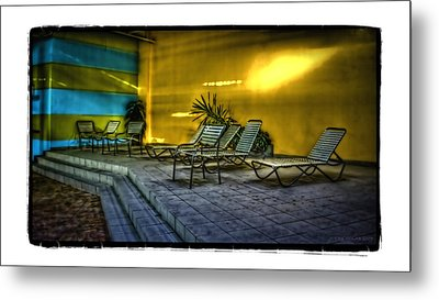 Chairs Metal Print by Jerry Golab