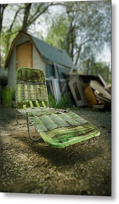 Chaise Lounge Metal Print by Yo Pedro