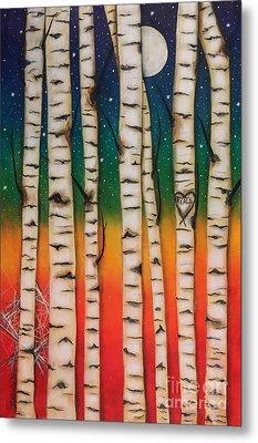 Chakra Rainbow Forest Metal Print