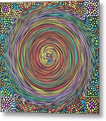 Chakra Swirl Metal Print