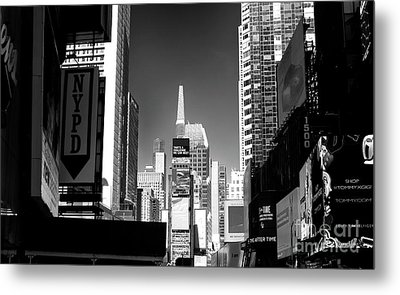 Metal Print featuring the photograph Challenges In Times Square by John Rizzuto