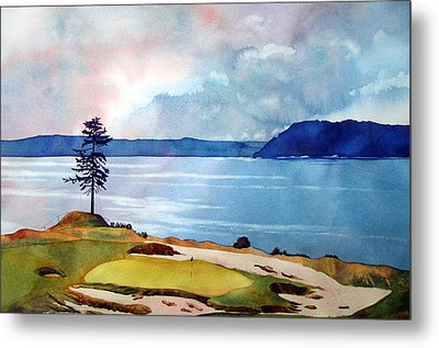 Chambers Bay 15th Hole Metal Print by Scott Mulholland