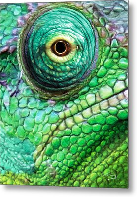 Chameleon Metal Print by Bill Fleming