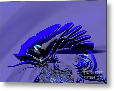 Chameleon Blue Metal Print by Steve Purnell