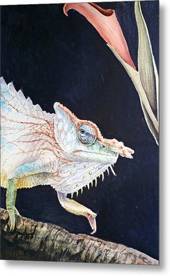 Chameleon Metal Print by Irina Sztukowski