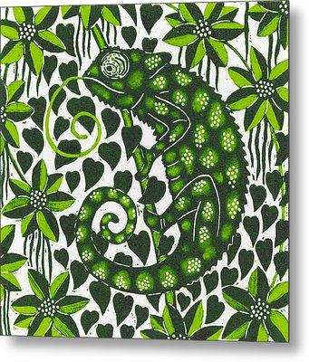 Chameleon Metal Print by Nat Morley