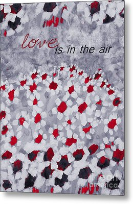 Champs De Marguerites - Love Is In The Air - Red -a23a3 Metal Print