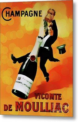 Champagne Celebration Metal Print by Ian Gledhill