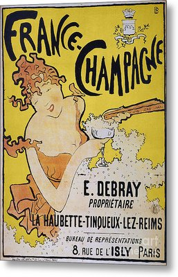 Champagne Poster, 1891 Metal Print by Granger