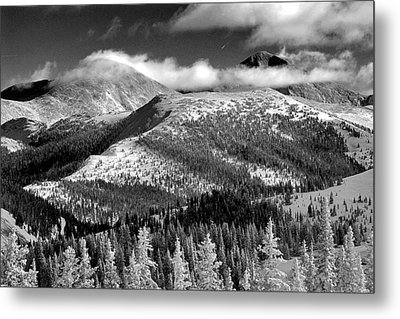 Champagne Snowscape Metal Print by Kevin Munro