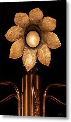 Chandelier Flower Metal Print by Wim Lanclus