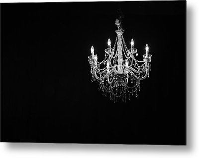 Chandelier  Metal Print by Ray Congrove