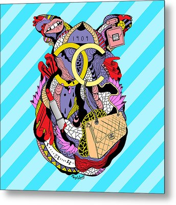 Chanel Abstract Fashion Metal Print by Kenal Louis