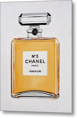 Chanel Me Metal Print by Denise H Cooperman