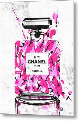 Chanel No. 5 Pink Army Metal Print by Daniel Janda