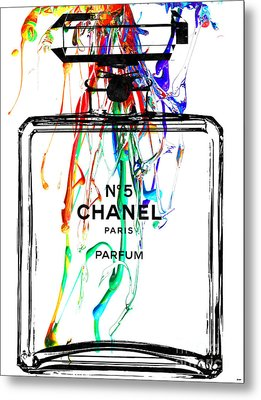 Chanel No. 5 Watercolor Metal Print