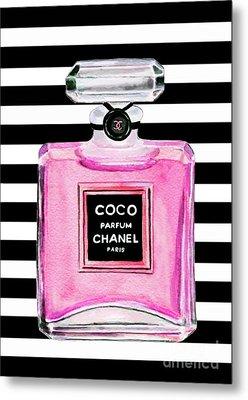 Chanel Pink Perfume 1 Metal Print