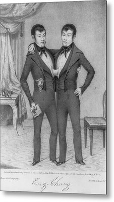 Chang And Eng, 1811-1874, Conjoined Metal Print by Everett