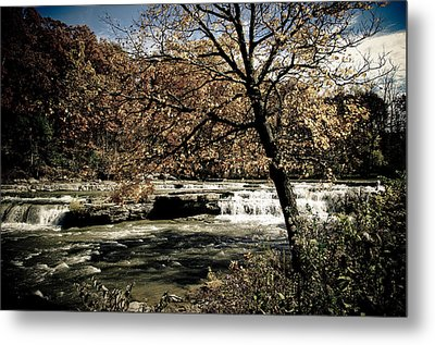 Changes Blowing In Metal Print by Melissa  Riggs