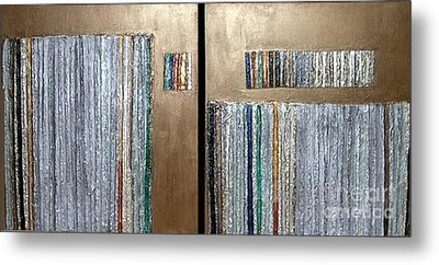 Channeling Metal Print by Marlene Burns
