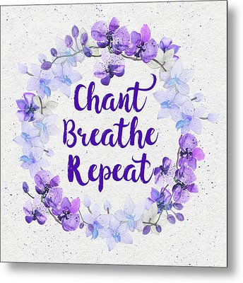 Metal Print featuring the painting Chant, Breathe, Repeat by Tammy Wetzel