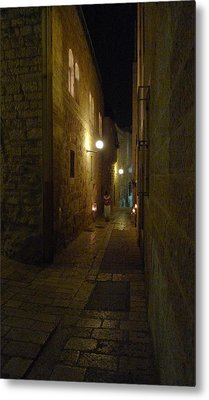 Metal Print featuring the photograph Chanukah At The Old City Of Jerusalem by Dubi Roman