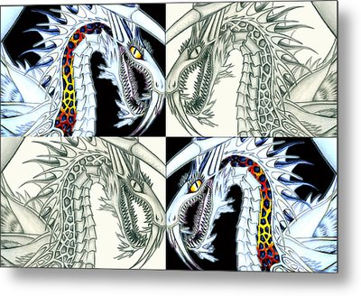 Chaos Dragon Fact Vs Fiction Metal Print