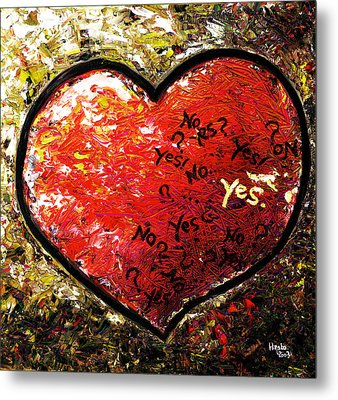 Chaos In Heart Metal Print