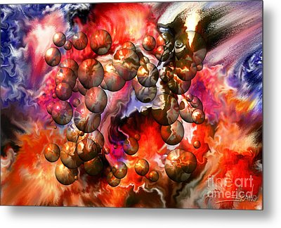 Chaos Spheres By Spano Metal Print