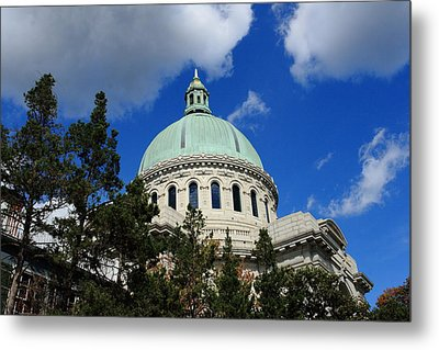 Chapel - Us Naval Academy 3 Metal Print by Lou Ford