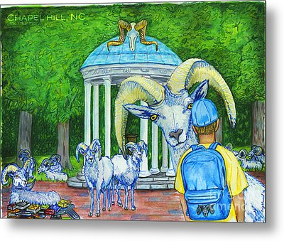 Chapel Hill Nc The Freshman Metal Print by Laura Brightwood