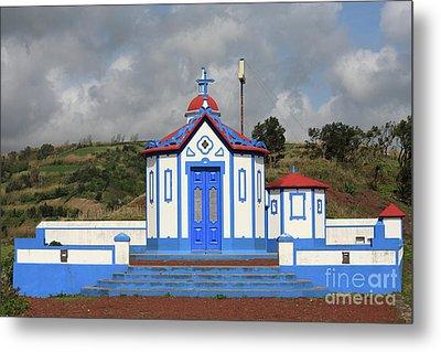 Chapel In Agua De Pau - Azores Metal Print by Gaspar Avila