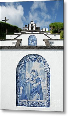 Chapel In The Azores Metal Print by Gaspar Avila