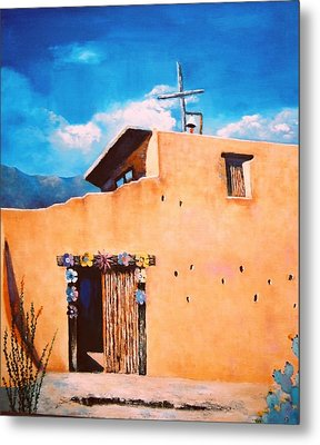 Metal Print featuring the painting Chapel In The Sun by M Diane Bonaparte