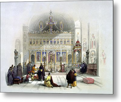 Chapel Of The Convent Of St Saba Metal Print by Munir Alawi