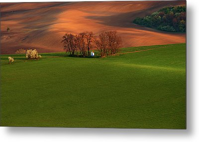 Metal Print featuring the photograph Chapel St Barbara. Moravia by Jenny Rainbow