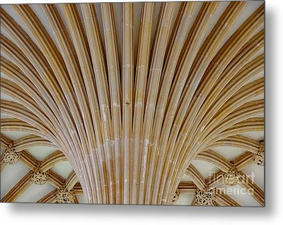 Chapter House Ceiling, Wells Cathedral. Metal Print by Colin Rayner