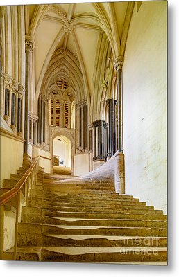 Chapter House, Wells Cathedral Metal Print by Colin Rayner