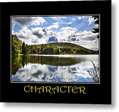 Character Inspirational Motivational Poster Art Metal Print by Christina Rollo