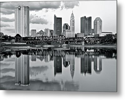 Charcoal Columbus Mirror Image Metal Print by Frozen in Time Fine Art Photography
