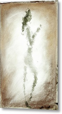 Charcoal Woman Metal Print by Andrea Barbieri