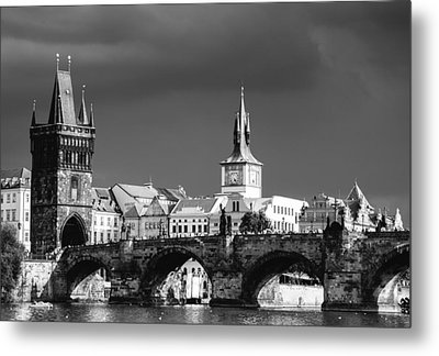 Charles Bridge Prague Czech Republic Metal Print by Matthias Hauser